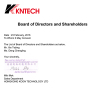 kntech board of directors and shareholders