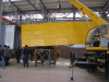 Semi-trailer container loading shipment