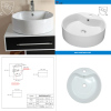 above counter ceramic sink with CUPC certificate