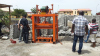 Zambia customer bought QTJ4-40 block machine and started to produce hollow blocks in 2012 year