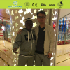With African Friends in Shopping Mall