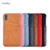 7 Color PU Leather Slim Wallet Back Case Cover for Apple iPhone X