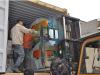 France client wood pellet line loading