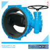 Rubber liner eccentric butterfly valve with worm gear