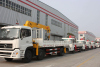 dongfeng truck with crane to Vietnam