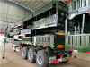 3 axles flat bed semi trailer