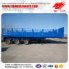 China heavy truck Side wall open semi trailer export to Sudan .
