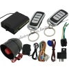 One way car alarm system with shock sensor siren engine stop LED indicator light