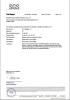 SGS Certificate for PP Sheet