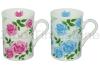 10oz Porcelain Decaled Coffee Mugs