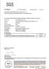 FDA test certificate