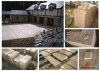 G682 Yellow Granite Paving Floor Project in Ireland