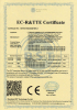 EC-R & TTE Certificate for Wireless RGB strobe light