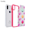 Ultra Thin Interchangeable 2 in 1 Soft TPU Bumper Cover Hard PC Back Plate for Iphone x