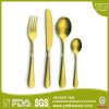 Stainless Steel Hotel Flatware with Gold Plating