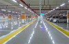 Our LED Tube Light In Underground Parking Lot