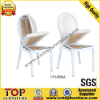 Popular removable cushion metal hotel restaurant dining chair