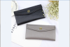 Imitation brand women wallet with weaved flap
