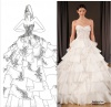 Custom Stage costumes Clothing Dress DIY Wedding Gowns