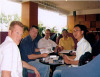 Discuss with customers from Europe