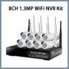 8CH 960p Wi-Fi IP CCTV Security Kit Wireless NVR System Camera Plug-and-Play VGA HDMI