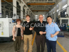 Welcome Mr gary and his companions to visit WEICHENG CARDANSHAFT