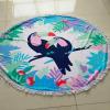 Microfiber round beach towel