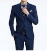 New style 2- button wool men's suit