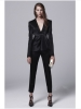 100% wool balck women business suit