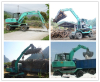 sugarcane or round log pick up machine