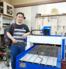 Korean customer received his 6090 advertising cnc router
