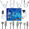 Supertechina Produce Visible Flowing Blue Light up Sync Cable Smart Charger for Apple iPhone