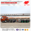 QILIN 43000 Liters Aluminum alloy fuel tank semi trailer shipped to tianjin