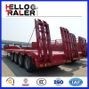 Heavy duty 4 axle 80 ton low loader trailer