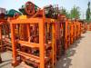 QT4-40 semi automatic vibration model hollow block making machine are ready for loading
