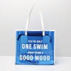 transparent colorful letter design pvc shopping bag