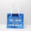 transparent colorful letter design pvc shopping bag