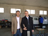 Mr FU with our customer in our old factory in YIFENGDIAN TOWN