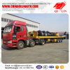3 axles flatbed semi trailer truck trailer for Tanzania market