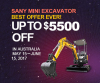 SANY MINI EXCAVATOR, to ROCK AUSTRALIAN MARKET with BEST OFFER