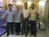 Andy and Manager Suhe met Iraq customer on vein finder