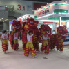 Lion dance show at spring canton fair