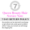 7 DAY RETURN POLICY