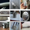 fiber laser marking machine on the metal samples