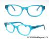 trendy crstal blue girl optical frame
