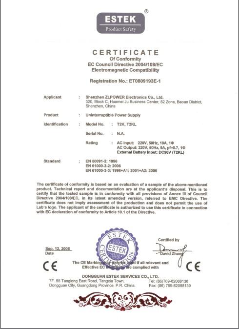 Online UPS 2KVA/1400W CE