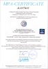 MPA Certificate