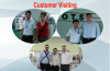 Photos with our customer in exhibition