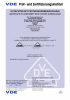 YYSR VDE Certificate