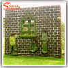 Artificial Boxwood Mat in Outdoor Grass Turf Hedge Wall Patio Plant Decor
